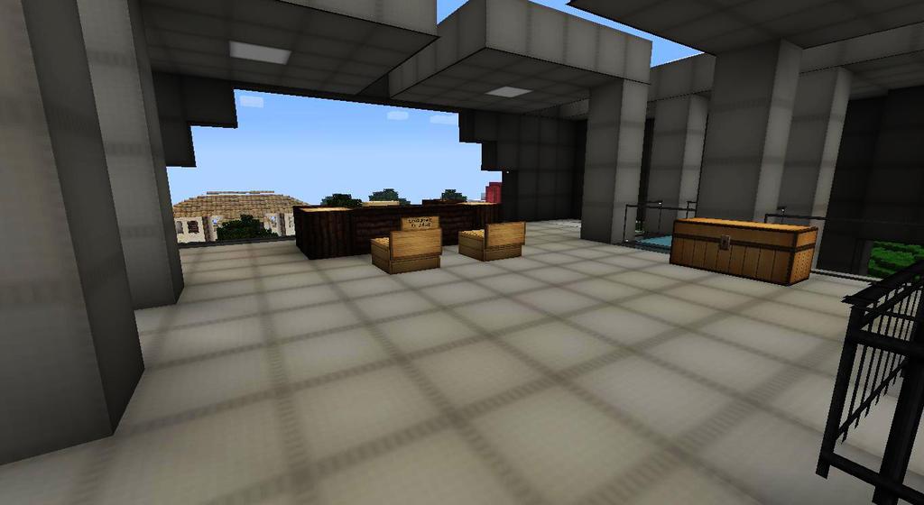 My minecraft builds loans spawn office interior by lilgamerboy14 on deviantart - Minecraft office interior ...