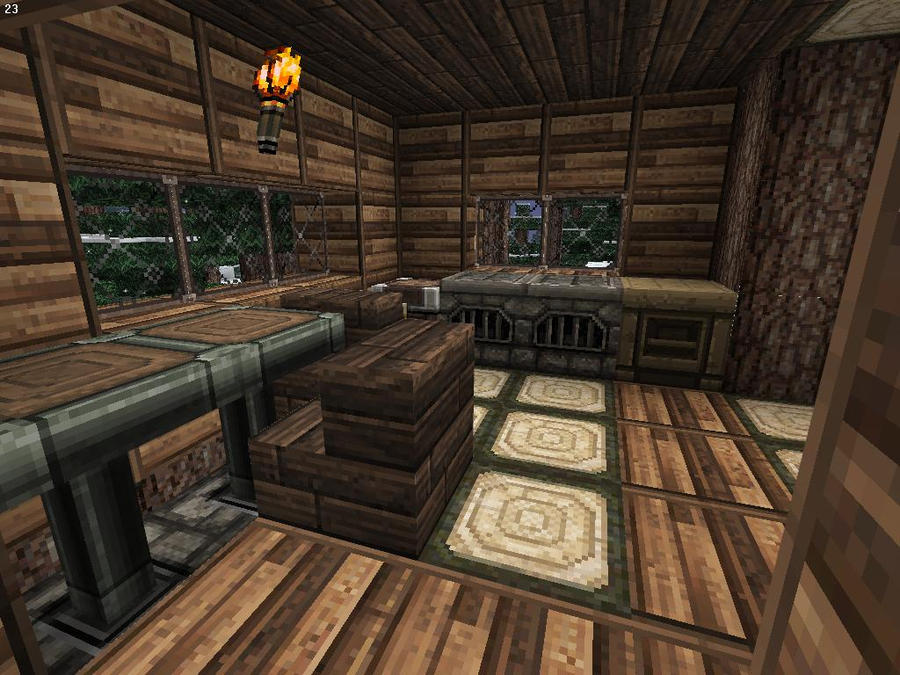 Minecraft Hunter S Wooden Cabin Interior 1 By