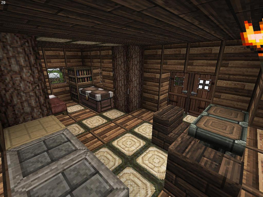 Minecraft Hunter 39 S Wooden Cabin Interior 2 By Lilgamerboy14 On Deviantart