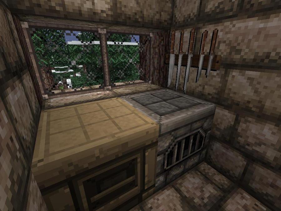 Minecraft Family Cabin Kitchen by lilgamerboy14 on DeviantArt