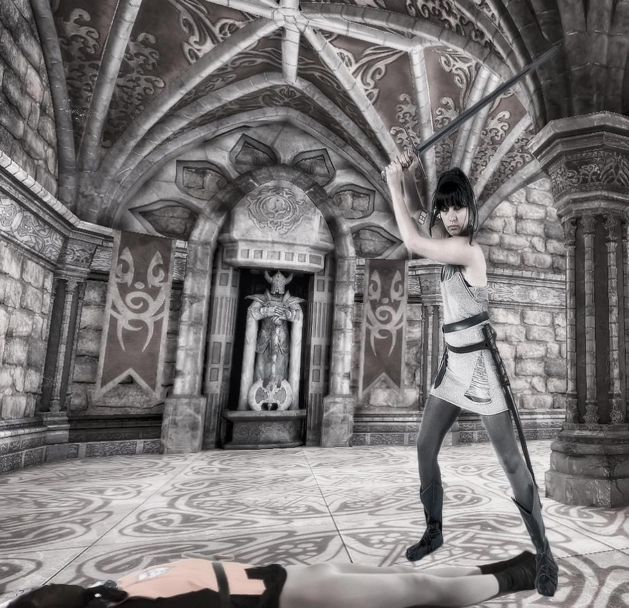 swordswoman lady knight by medievalguard