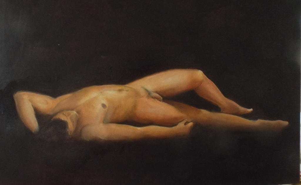 Dmitry  oil on paper   11.7INS X 16.5INS. by Mikedga