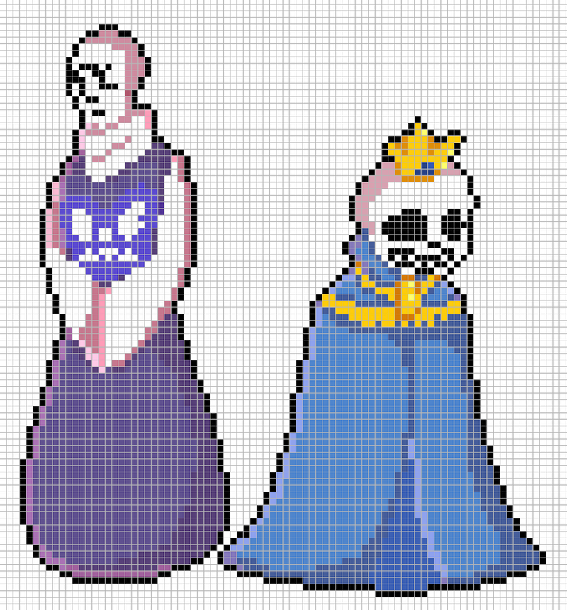 Storyshift Sans + Papyrus Pixelart with Grid by Sk0p3r on DeviantArt