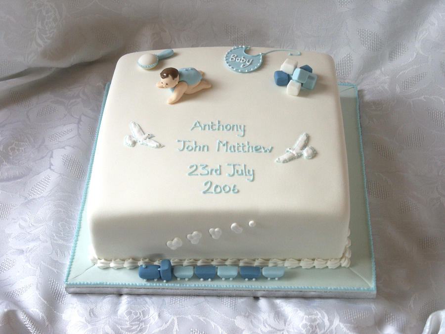 Cake Decorating Ideas For Baby Dedication : Crawling Baby Christening Cake by Franbann on DeviantArt