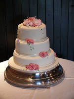 Peonies Wedding Cake by Franbann