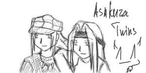 Twins Asakura - oekaki by Twins-Asakura