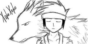 HoroHoro the Wolf - oekaki by Twins-Asakura