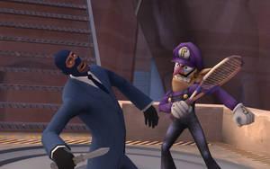 Waluigi VS the Spy