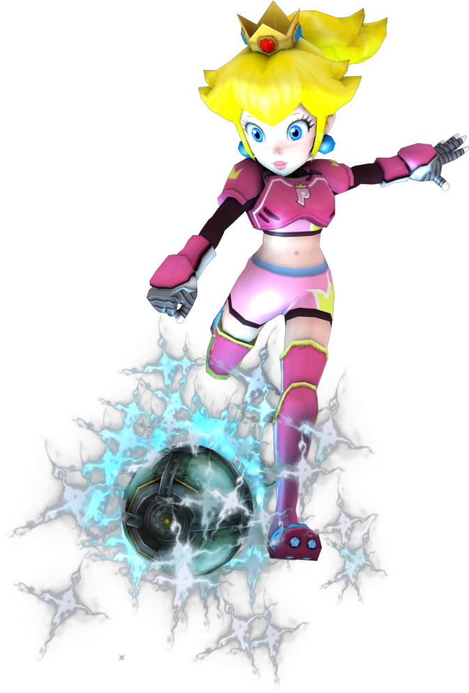 Princess Peach Test Render  Mario Strikers Charge  By