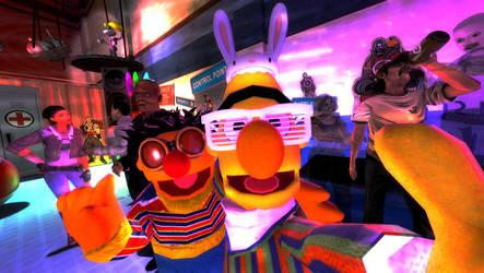 Bert and Ernie (Gmod Ragdoll Release) by Luigimariogmod