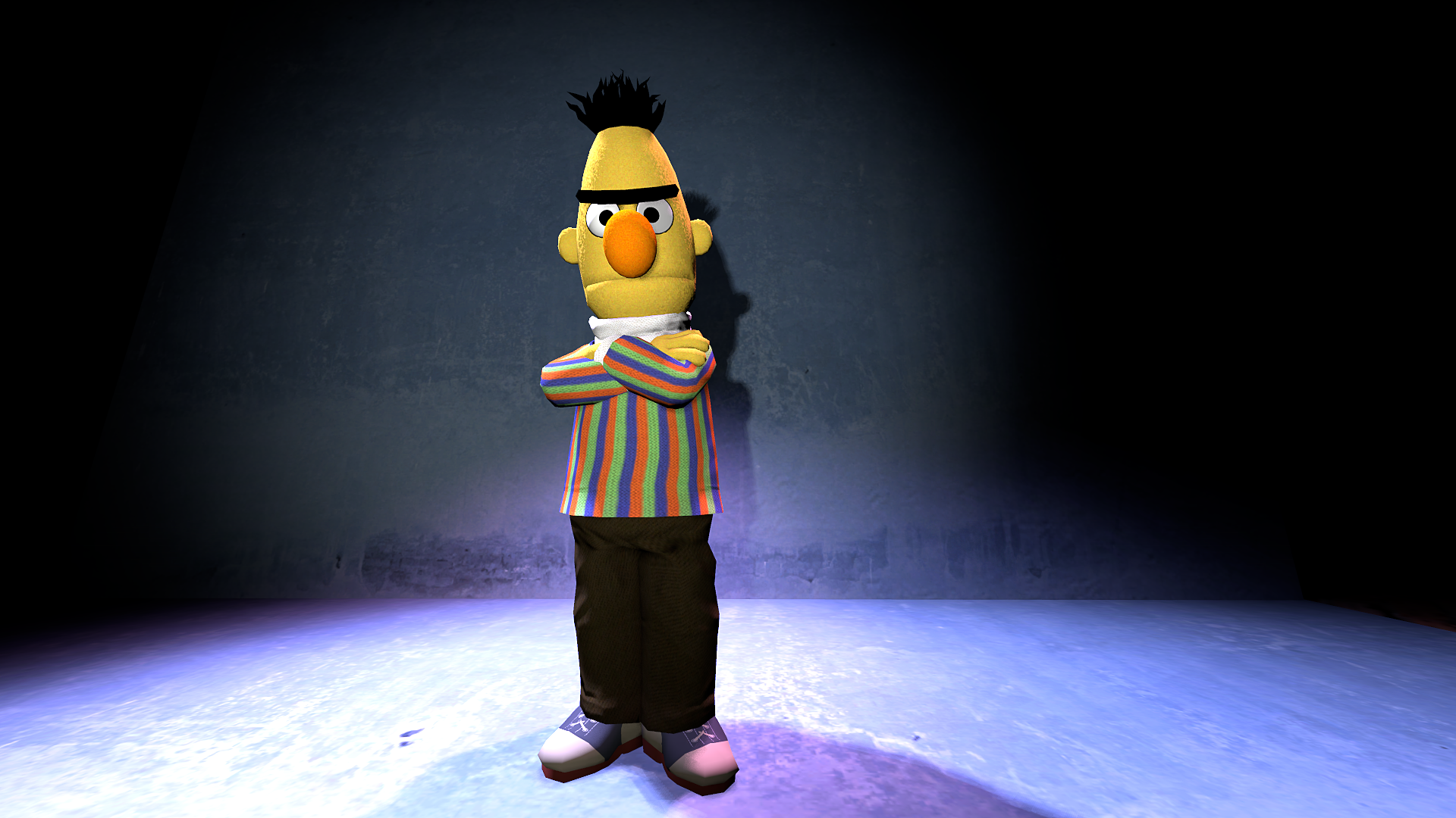 Generic test pose of my Bert model in SFM : SFM