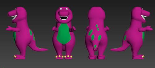 Barney the Dinosaur by Luigimariogmod