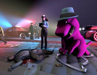 Barney: CSI by Luigimariogmod