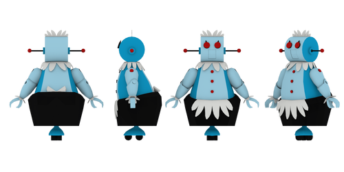 Rosie the Robot Maid 3D Model Sheet