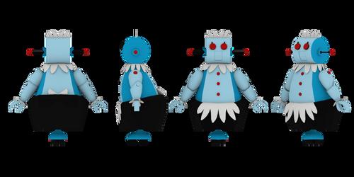 Rosie the Robot Maid 3D Model Sheet by Luigimariogmod