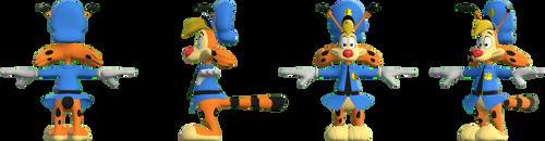Bonkers D. Bobcat 3D Model Sheet