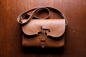 Violin themed leather purse or bag