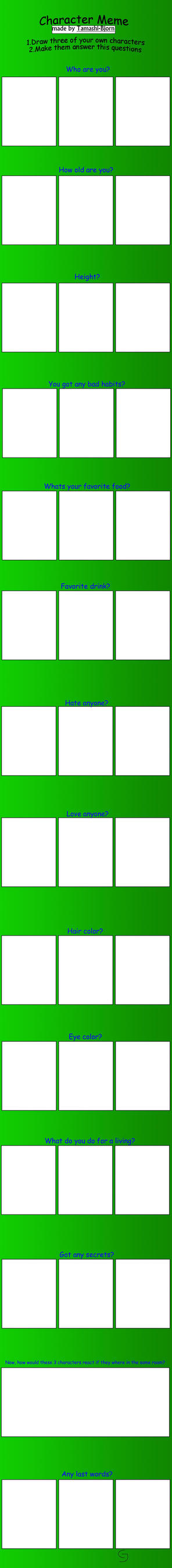 Oc character meme blank by Tamashi-Bjorn