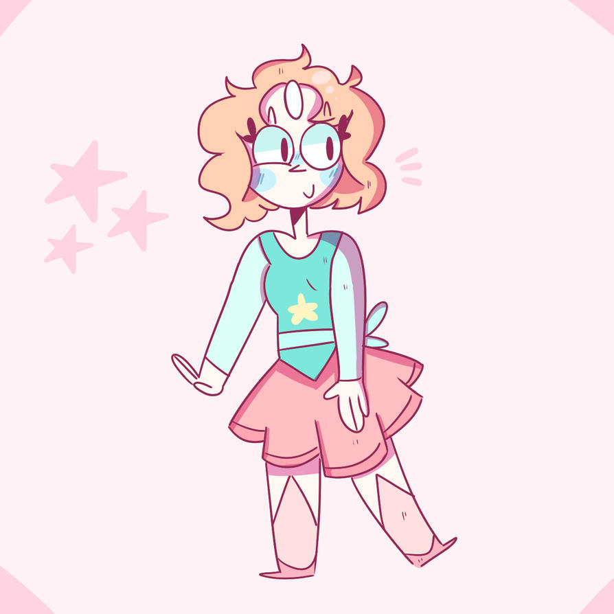 Yeah this was the first thing I drew, I really love Steven Universe and I wanted to redesign my favourite gem. The pose I drew is a bit awkward though o-o I was going for a kind of magical girl pri...