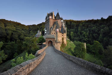 Evening at Eltz Castle