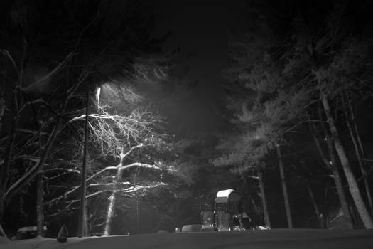 Sleet in the night