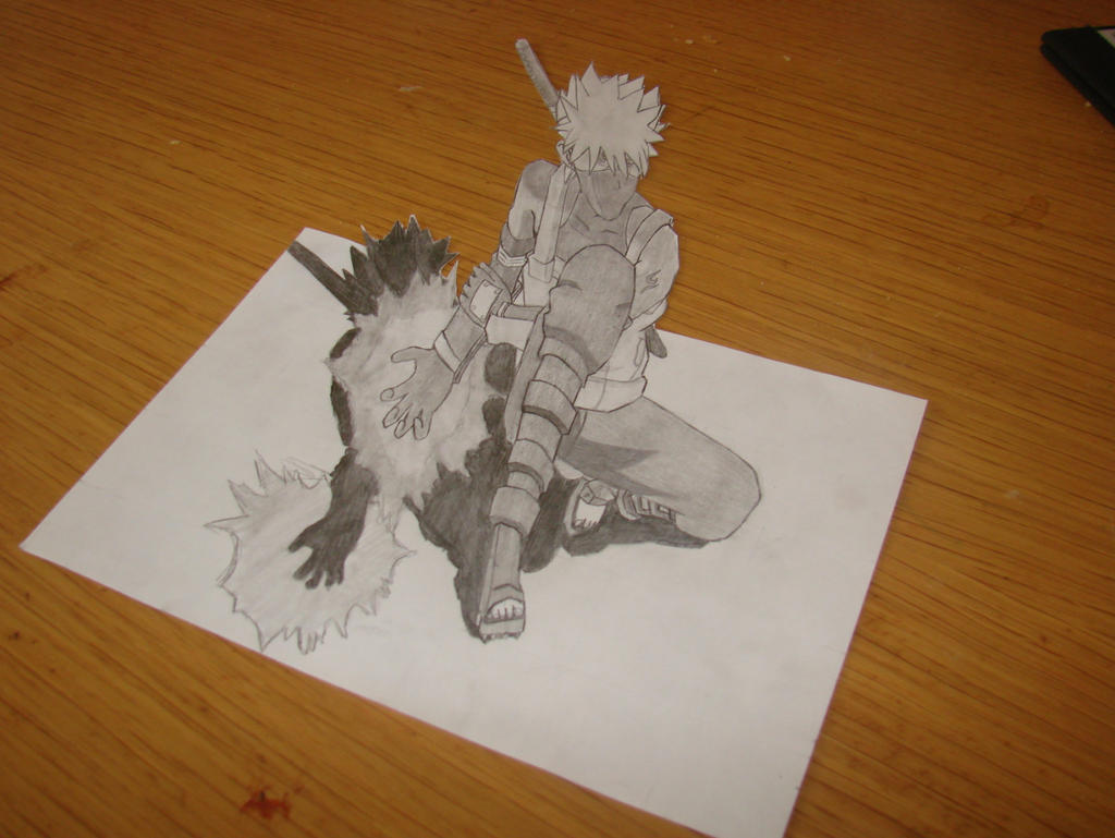 kakashi 3d drawing by barlox