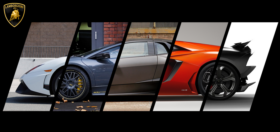 The Five Lamborghini Side View By Vr 7 On Deviantart