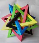 Five Intersecting Tetrahedra by memougler