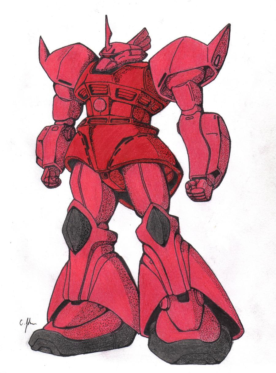 Gelgoog Commander Type (Char Aznable) by EBOTD on DeviantArt