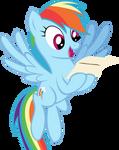 Rainbow Dash Has Mail (Vector)