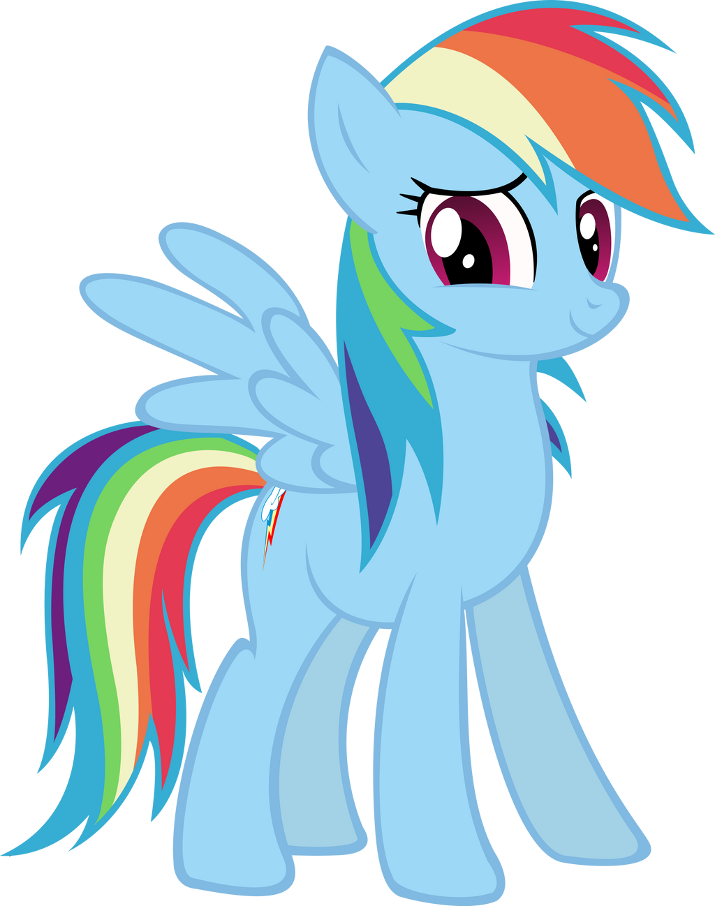 Rainbow Dash (Vector) by DatBrass