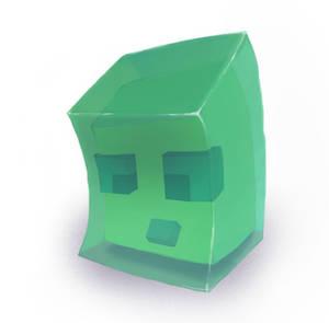 Realistic-ish Minecraft Slime (Moving to Krita)