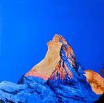 Matterhorn with red