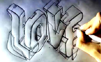 How to draw 3D Love Graffiti Letters Zartiex 2014 by ...