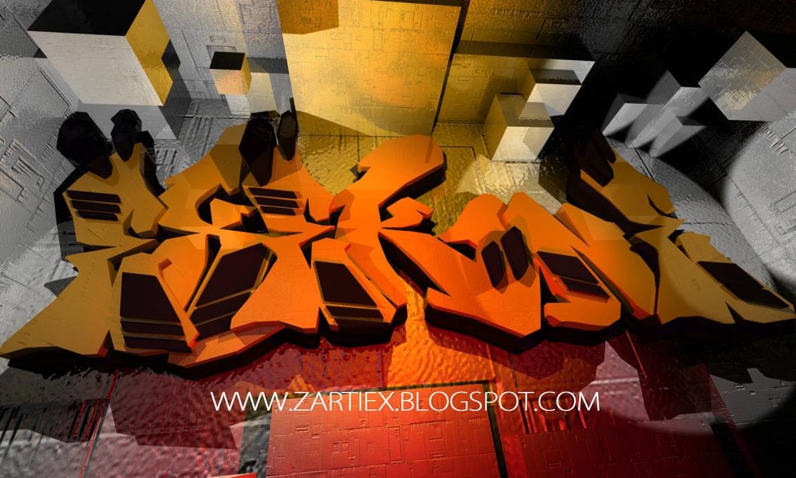Graffiti creator graffiti letters 3d zartiex g by zartiex