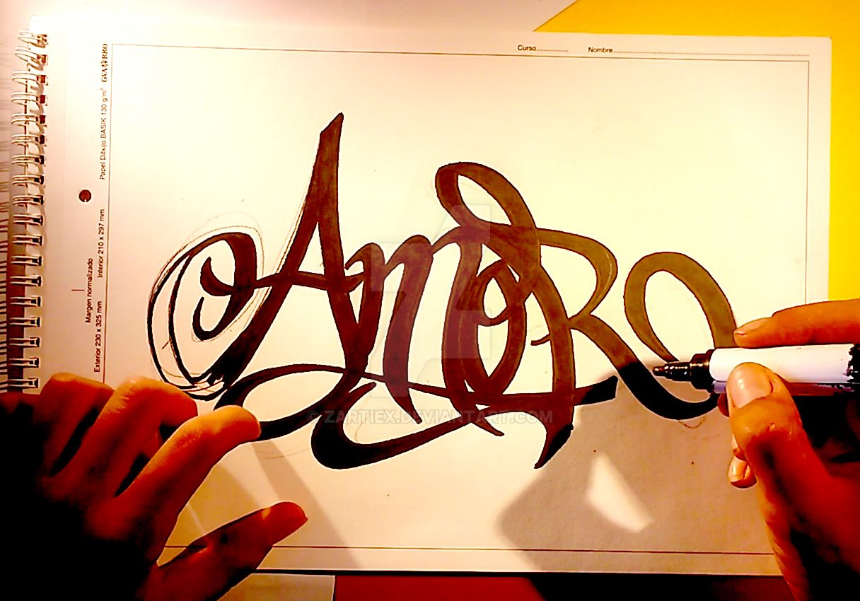 dibujos de graffiti de amor