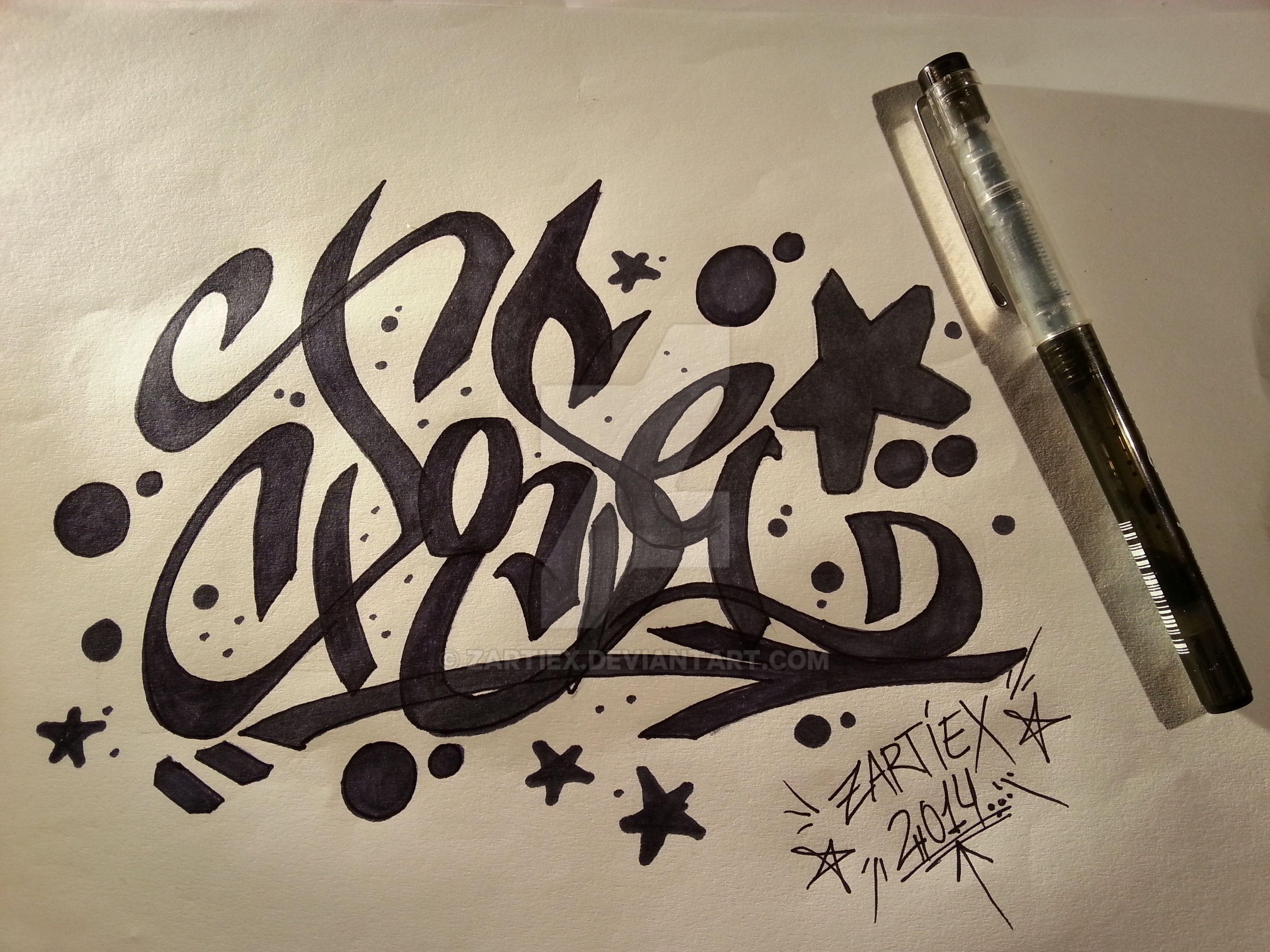Como dibujar letras 3D de graffitis faciles by Zartiex on DeviantArt