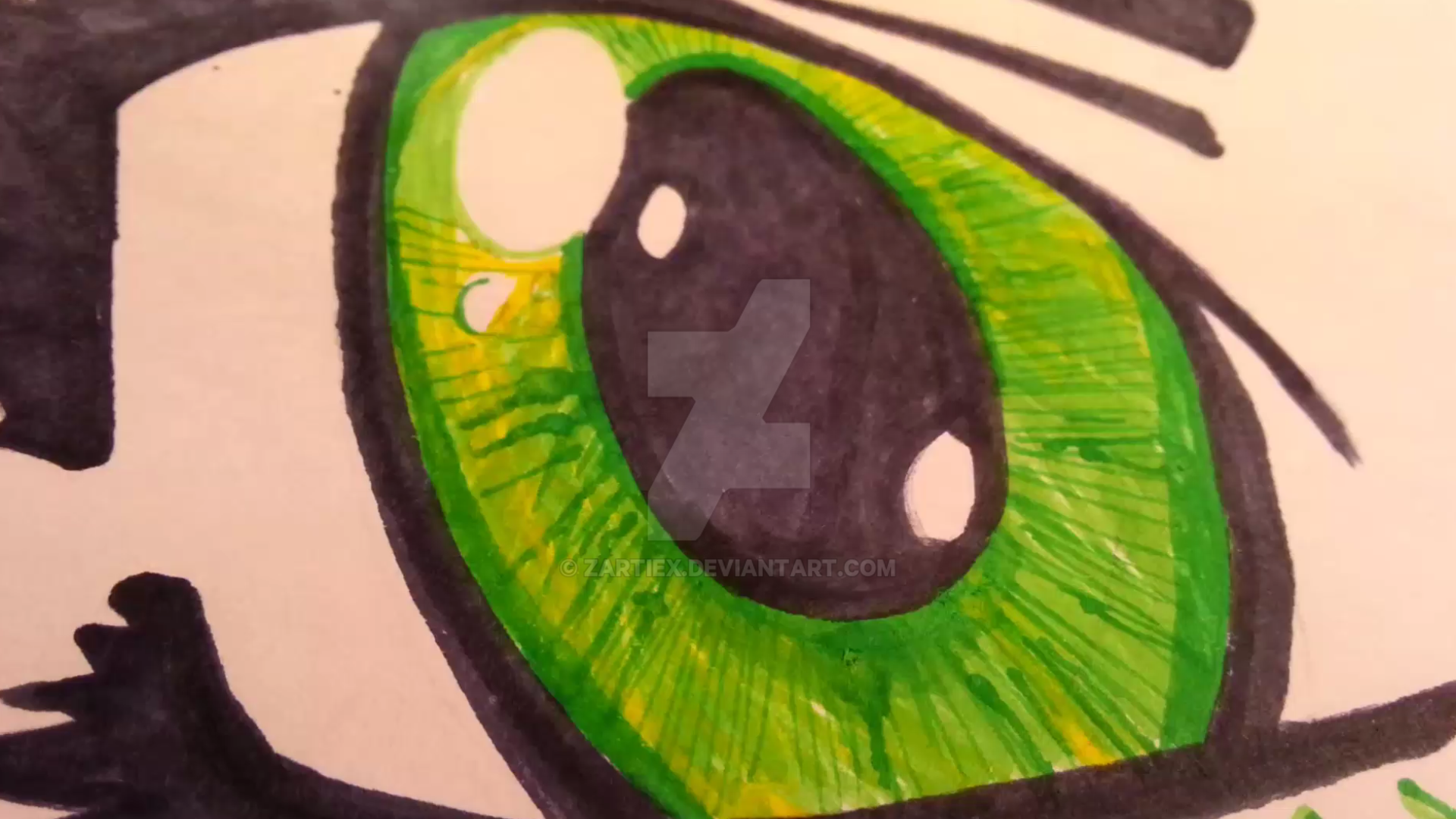 Dibujos De Ojos Infantiles Para Colorear: Anime Dibujos Animados Infantiles Para Dibujar By Zartiex