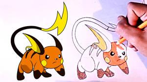 Pokemon Go - How to draw Raichu step by step by ZA