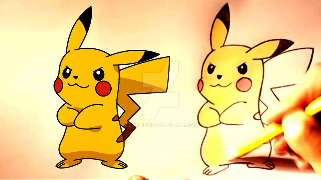 how to draw pikachu step by step pokemon