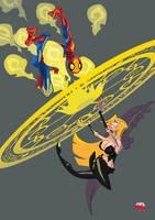 Spider-man vs Trish by Minds-Edge