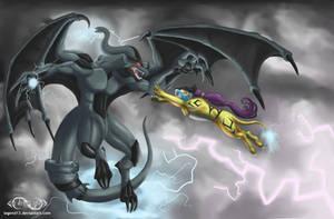 Raikou vs Zekrom by Legend13