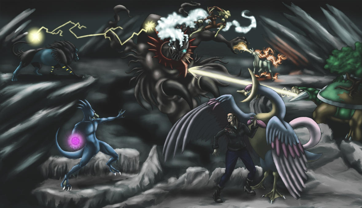 Pokemon is awesome! Look how awesome it is! Caught_in_a_nightmare_by_legend13-d37g9f3