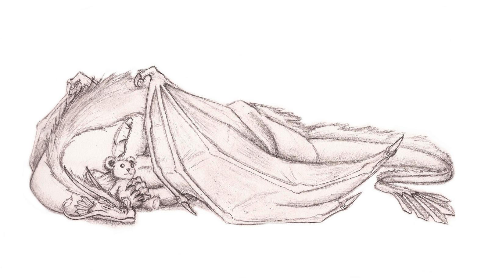 Sleepy Dragon's Teddy by Legend13