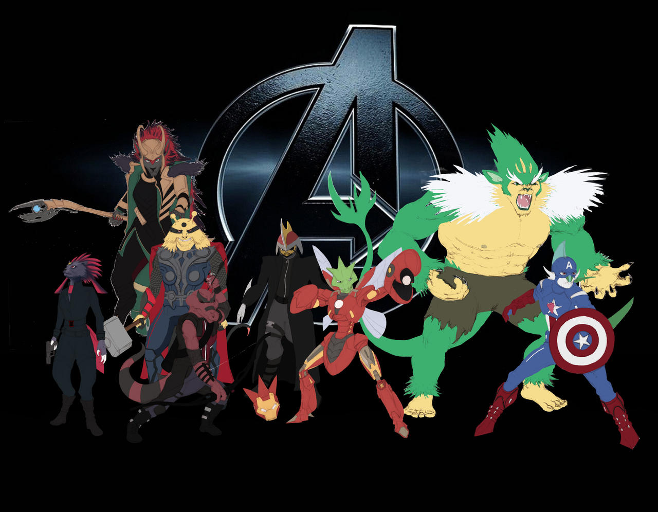 Pokemon Avengers Concept by Legend13