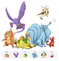 Pokemon Fusions by Legend13