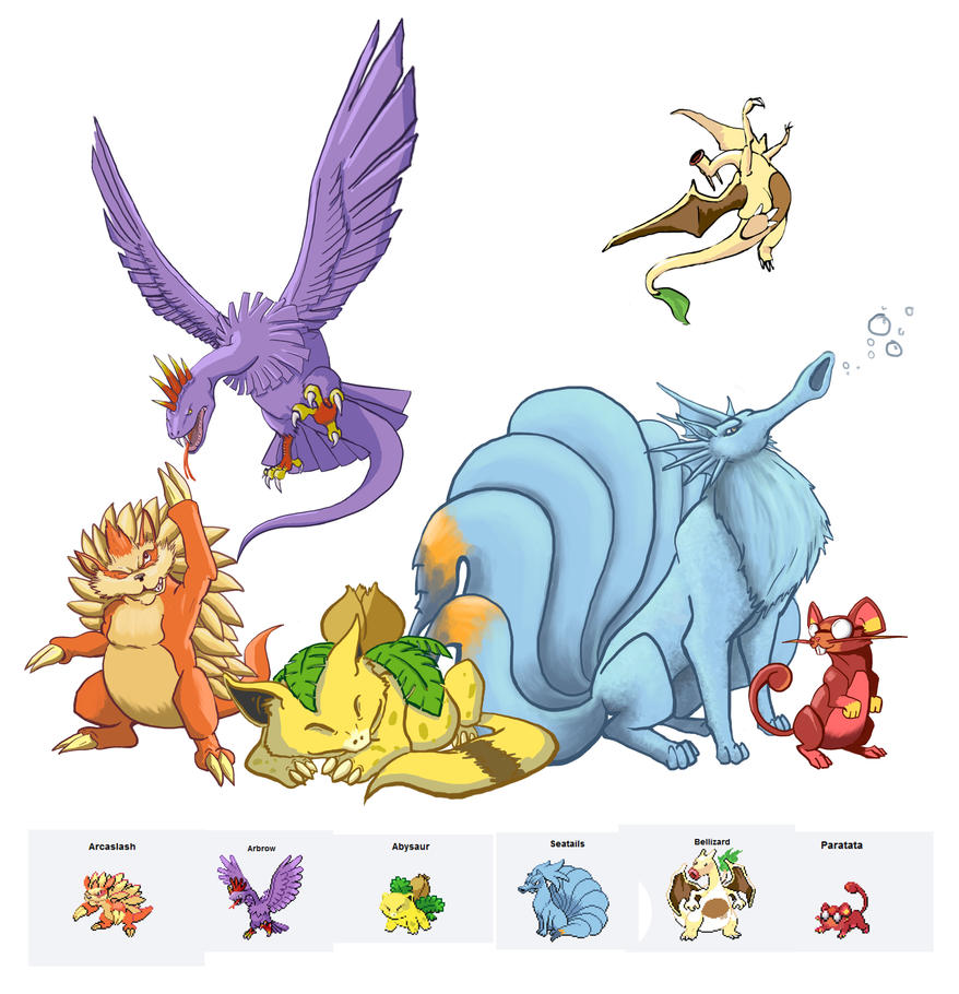 Cute Pokemon Fusions Deviantart