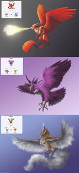Pokemon Fusions: Kanto Legendary Birds