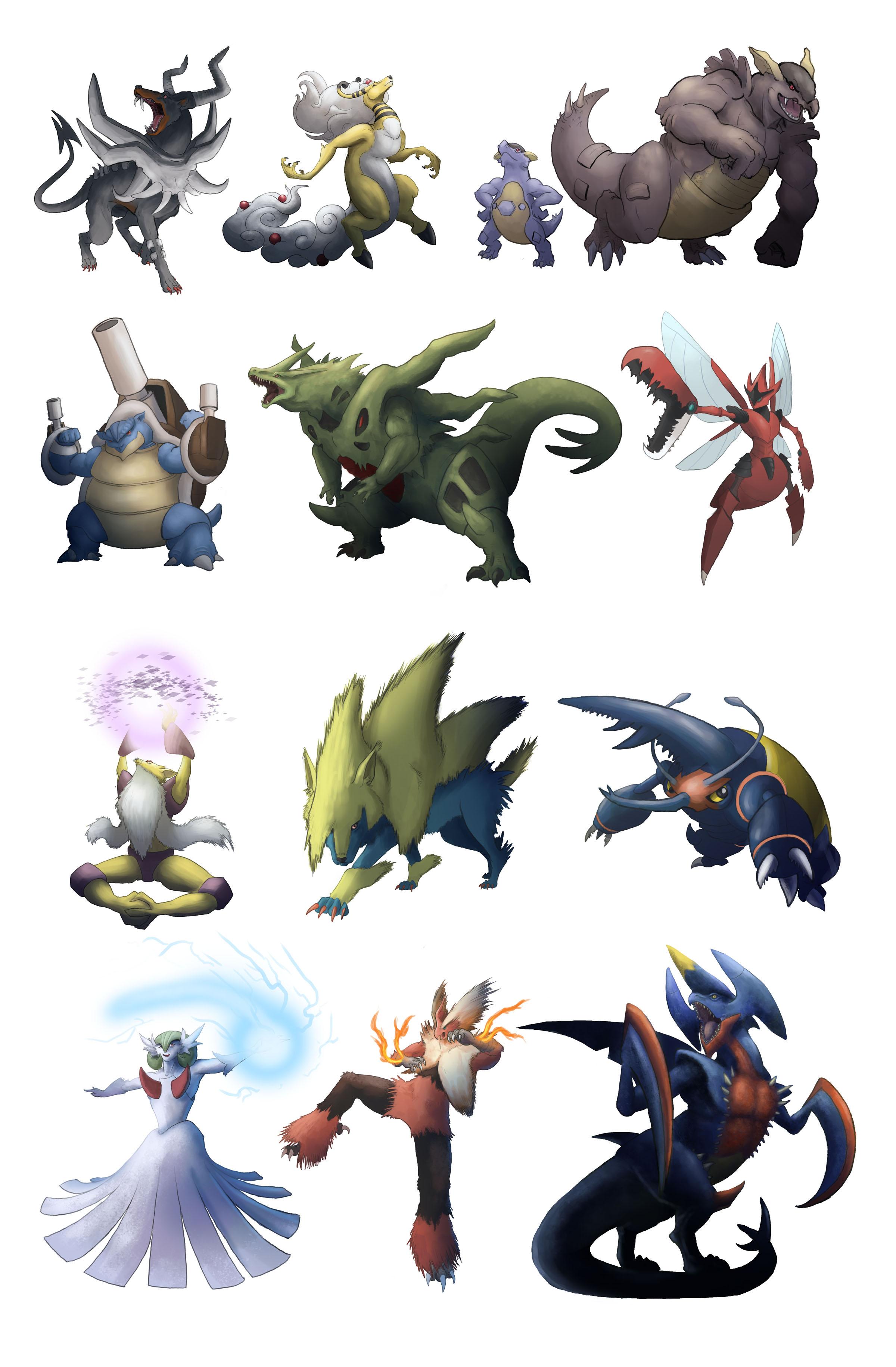 Mega Evolutions Mega Set by Legend13 on DeviantArt