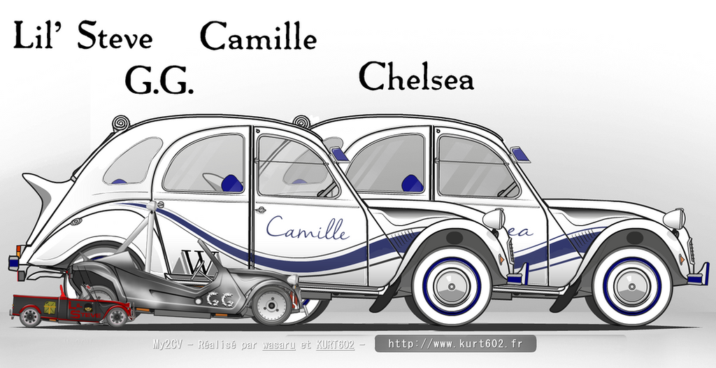 Walter Girls, GG and Lil' Steves cars by truemouse